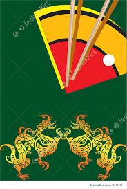 illustration of chinese dinner set