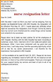 7 sample resignation letter nurses audit letters