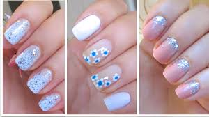 3 cute and easy nail art designs for new years youtube