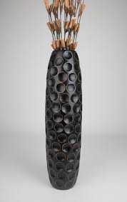 tall floor vase 90 cm mango wood black ebay