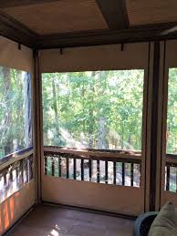 Patio Enclosures Nashville Tn by Piedmont Enclosures Clear Vinyl Roll Up Curtains