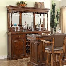 Bar Hutch Walnut Finished Back Bar Base And Hutch By E C I Furniture Wolf