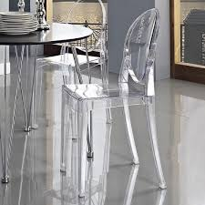 Ghost Dining Chair 2 X Style Smoke Color Ghost Dining Chair