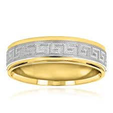 mens two tone wedding bands looking solid 14k two tone gold wedding band for men comfort fit