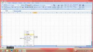 excel 2010 insert sheet rename sheet and coloring of sheet tab