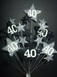 40 cake topper age 40th birthday cake topper decoration in silver black