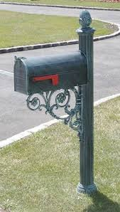 the hton aluminum mailbox and post system black addresses of