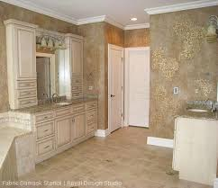bathroom stencil ideas putting on the glitz with metallic stenciling ideas paint pattern