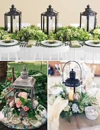 Lanterns With Flowers Centerpieces by Eclectic Spring Wedding In Brookshire Texas Vintage Lanterns