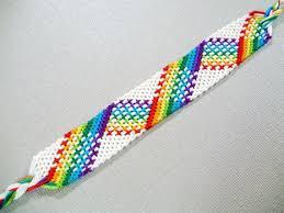 friendship bracelet rainbow images White and rainbow plaid friendship bracelet nine color rainbow jpg