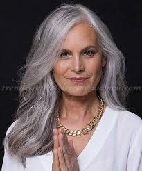 long gray hairstyles for women over 50 older women with long hair long hair and all the flair