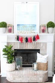 Modern Valentine S Day Decor by Our Valentine U0027s Day Mantle Decor A Blissful Nest