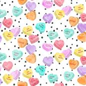heart candy candy hearts fabric wallpaper gift wrap spoonflower