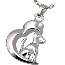 crematory jewelry in my heart dog pendant cremation jewelry