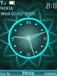 theme clock 3d digital flower clock s40 theme mobile theme coolest themes