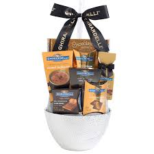 ghirardelli gift baskets ghirardelli chocolate treats gift basket white walmart