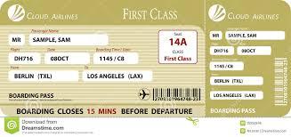 boarding pass first class stock vector image of flight 39250946