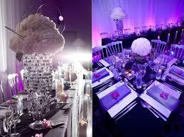 Purple Decorations White Purple Wedding Theme