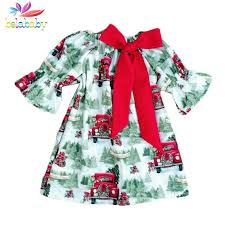 Belababy Baby Girl Clothes Christmas Dress Bow 2018 New Toddler