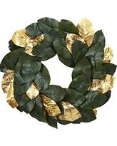 Magnolia Leaf Wreath Holiday Special Sonoma Goods For Life Artificial Magnolia Leaf