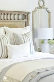 Guest Bedroom Bedding - one room challenge classic blue and white guest bedroom reveal