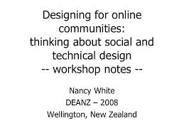 online community design workshop notes