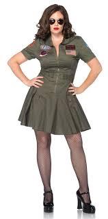 plus size costume leg avenue top gun women s flight dress plus size costume candy