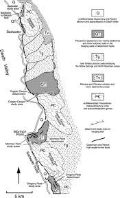 Map Of Death Valley Structural Geology And Kinematic History Of Rocks Formed Along Low