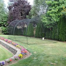 atec 70ft backyard batting cage net frame kit atec sports with