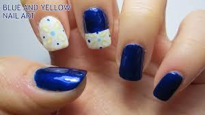 blue and yellow nail designs gallery nail art designs