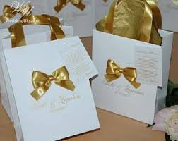 ribbon with names 35 wedding welcome bags with gold satin ribbon bow tag and names