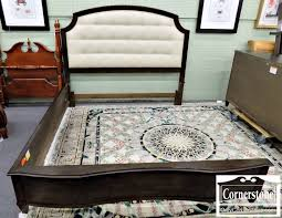 King Bed Leather Headboard by Art Contemporary Dark Stained Wood King Bed With Light Colored