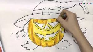 how to draw halloween how to draw a halloween pumpkin for kids