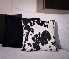 Cowhide Pillows Faux Cow Skin Cushion Fake Cowhide Cushions Cowhide Pillows
