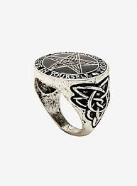 hot topic wedding band skull bling two finger rings for guys hot topic
