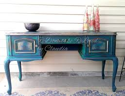 diy distressed peacock green finish using chalk paint 8 steps