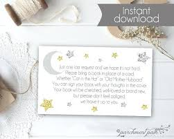 bring a book instead of a card poem baby shower book not card bring a request baby shower ideas