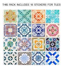 Tile Floor In Spanish by Traditional Spanish Floor Tiles Decals Pack Of 32