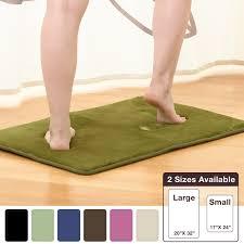 Green Bathroom Rugs by Amazon Com Memory Foam Bathrug U2013 Sage Green Bath Mat And Shower