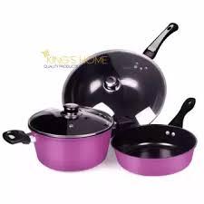 home pans king s home 5 pcs non stick induction safe pot and pans cook set