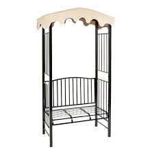 steel garden arbor with canopy and bench christmas tree shops