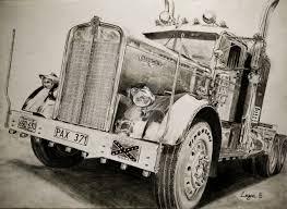 vintage cars drawings kenworth drawing by darstrom on deviantart