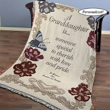 personalized granddaughter gifts personalized granddaughter throw blanket unique affordable