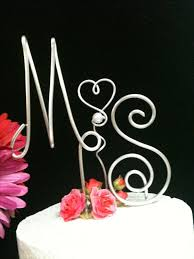 wire cake toppers made by wire wedding cake topper