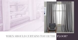 Should Curtains Go To The Floor Decorating When Should Curtains Touch The Floor Quickfit Blinds And Curtains