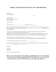 parent meeting letters sample letter requesting an iep team