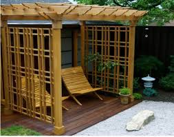 backyard patio with l shaped pergola building tips for a pergola