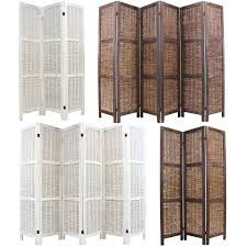 Wicker Room Divider Wooden Framed Wicker Room Divider Privacy Screen Partition Shabby