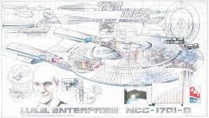 image amt 1995 30th anniversary cutaway poster uss enterprise d