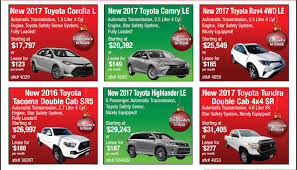 toyota specials used vehicle specials at hometown toyota in ontario or